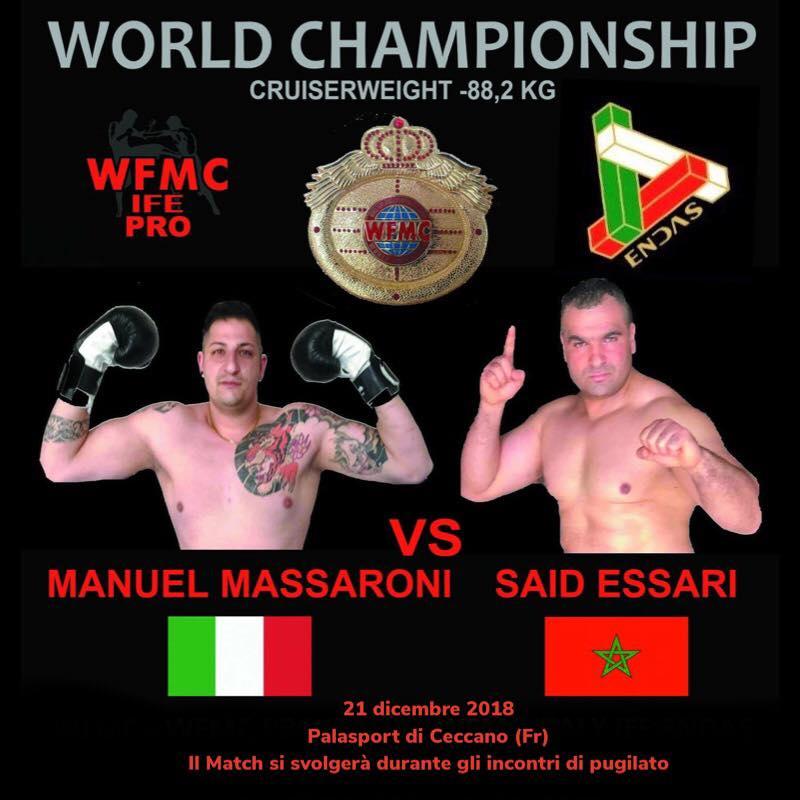 21 Dicembre 2018 cintura WFMC in palio