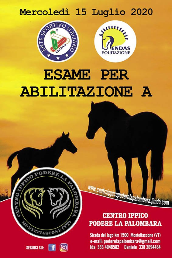 Equitazione: esame per abilitazione a montare