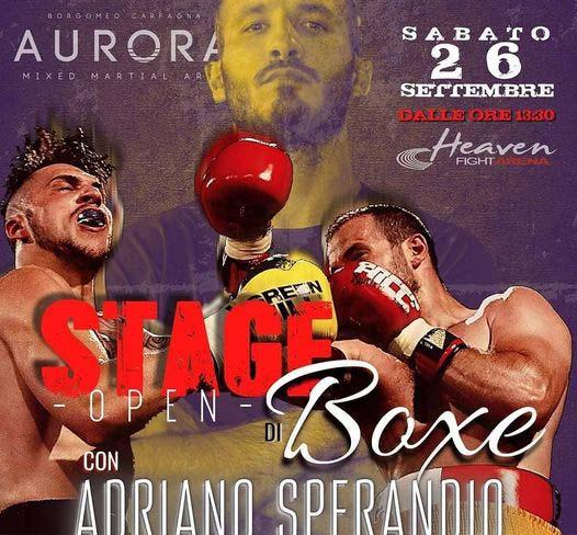 Stage con Adriano Sperandio 26 settembre