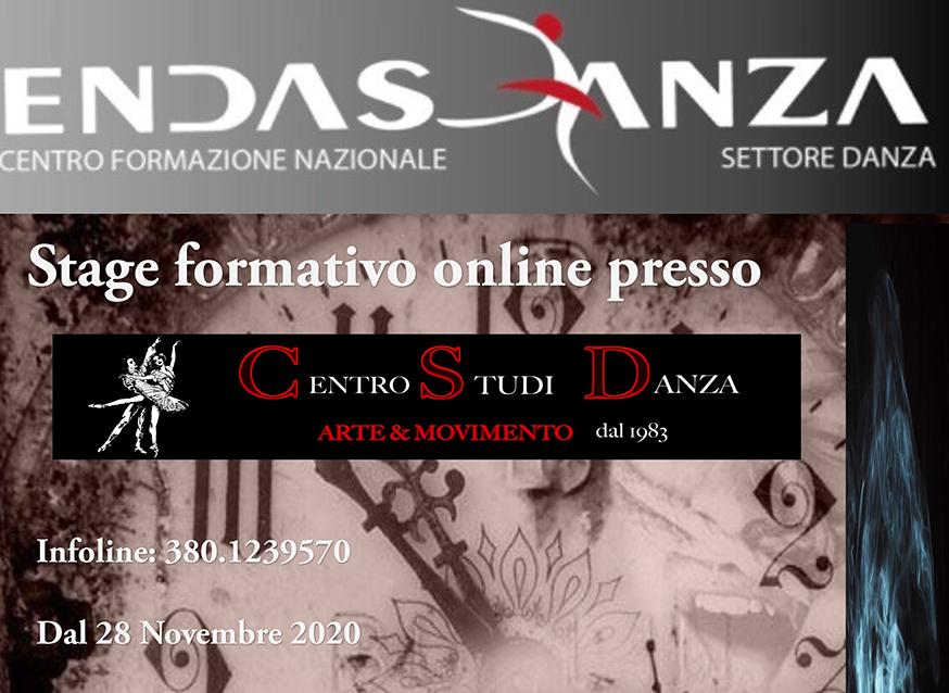 Stage formativo online Danza 28 Novembre